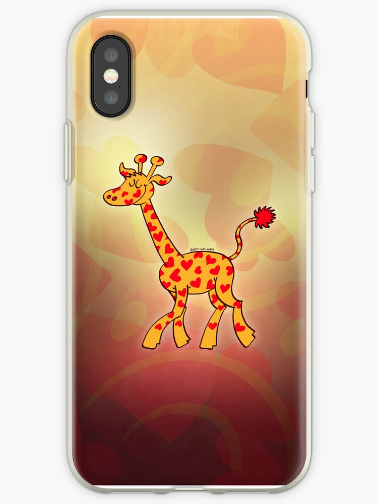 Red Heart Spotted Giraffe by Zoo-co