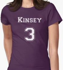 Kinsey3 - White Lettering Women's Fitted T-Shirt