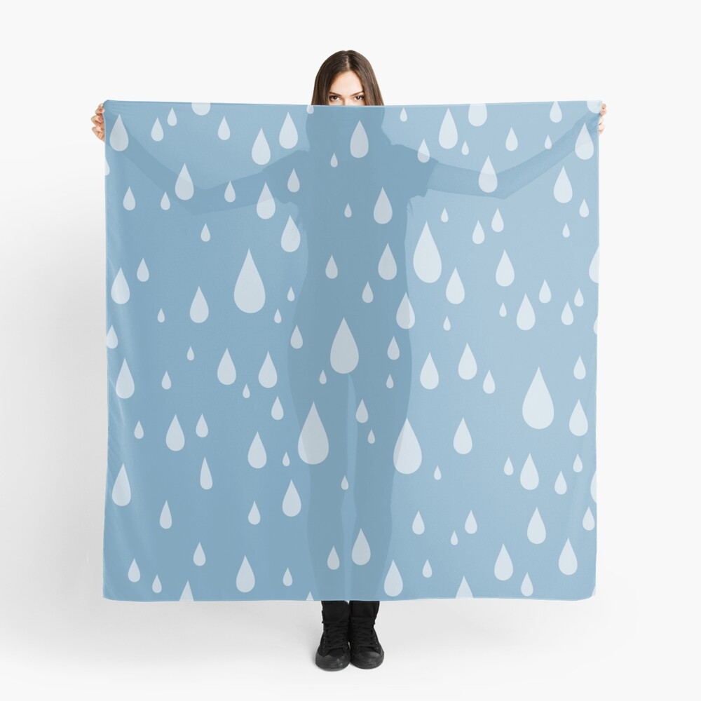 Raindrops or tears?  Scarf