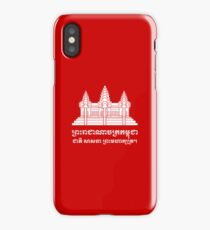 Angkor Wat / Khmer / Cambodian Flag with Motto iPhone Case