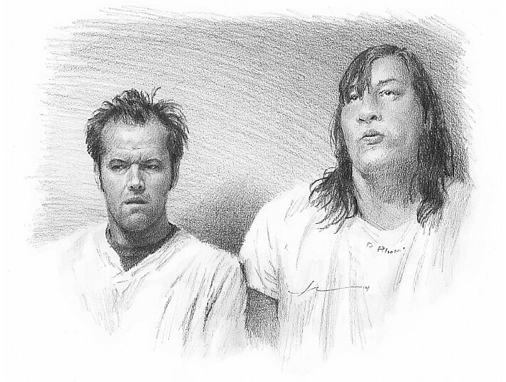 one flew over the cuckoo s nest drawing by mike theuer redbubble  one flew over the cuckoo s nest drawing by mike theuer