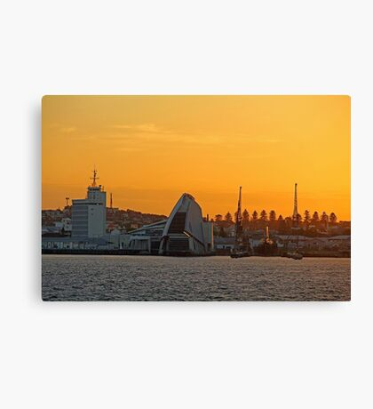 Fremantle Harbour Sunrise Canvas Print