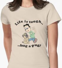 Hug a Pug! Women's Fitted T-Shirt