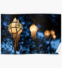 Lanterns and Bokeh Poster