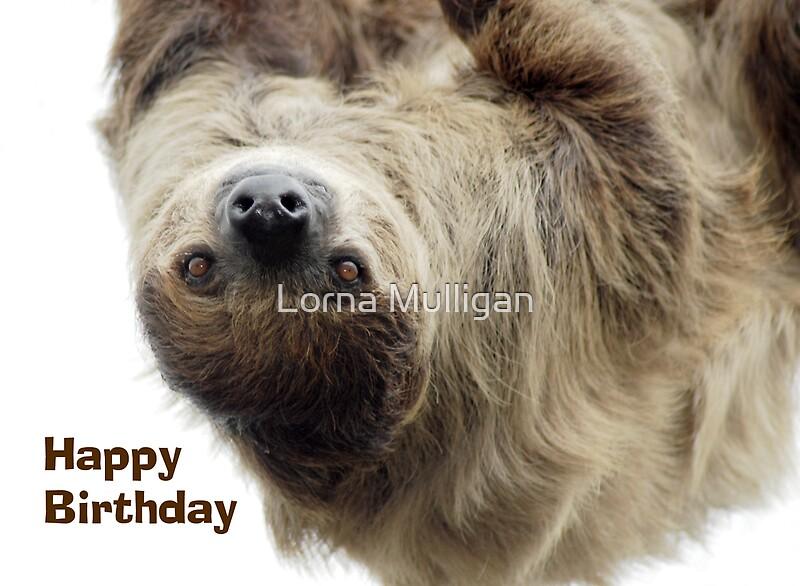 "sloth birthday card"" by lorna mulligan  redbubble, Birthday card"