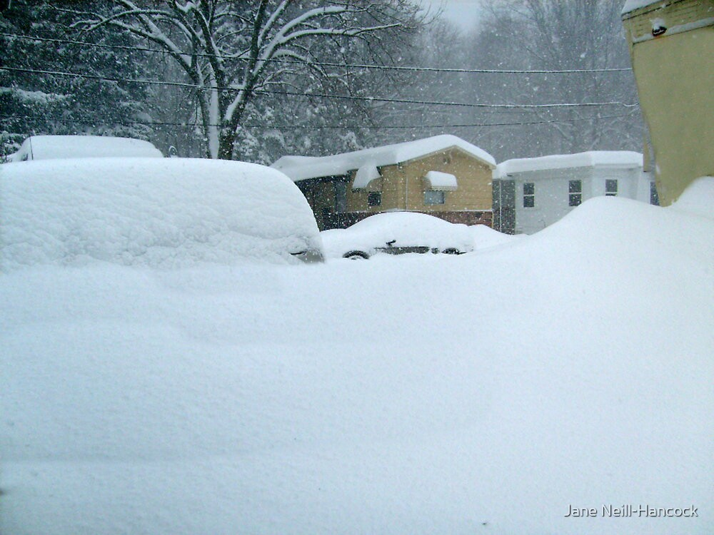 My Van is Somewhere Under That Snow.... by Jane Neill-Hancock