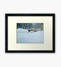My Van is Somewhere Under That Snow.... Framed Print