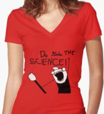 Do All The Science Women's Fitted V-Neck T-Shirt