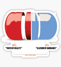 Red or Blue Pill Sticker