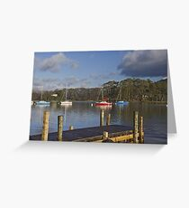 Beyond the landing stage Greeting Card
