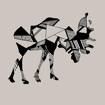 Timid Minimalist Graphic Moose by ofmooseandmen