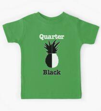 Quarter Black Kids Tee
