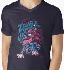 Zombie Unicorn Attacks Men's V-Neck T-Shirt