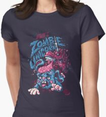 Zombie Unicorn Attacks Women's Fitted T-Shirt