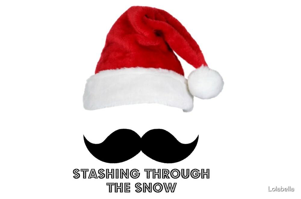 Stashing through the snow by Lolabella