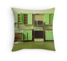 The Green Kitchen Throw Pillow