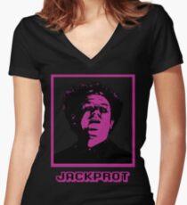 Big Time Riverboat Grambler Women's Fitted V-Neck T-Shirt