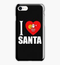 I LOVE SANTA iPhone Case/Skin