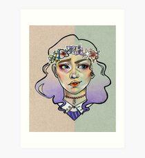 Split Face Art Print