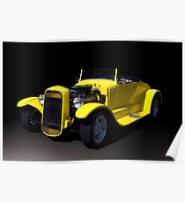 1931 Ford Roadster Hot Rod Poster