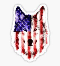 wolf USA Sticker