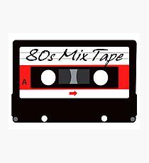 80s Music Mix Tape Cassette Photographic Print