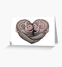 Monkey Love Greeting Card