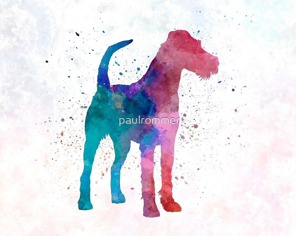 Irish Terrier in watercolor by paulrommer