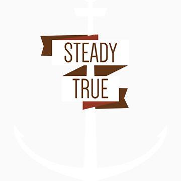 Steady & True Anchor Tee by sparksandburns