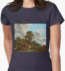 Landscape painting  Women's Fitted T-Shirt