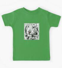 White Tiger Portrait Kids Clothes