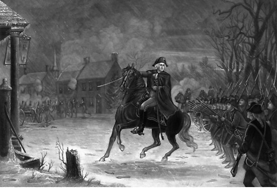 Washington At The Battle Of Trenton  by warishellstore