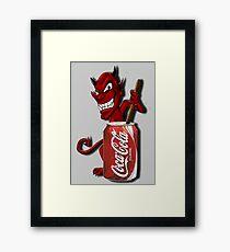Coke Is The Devil Framed Print