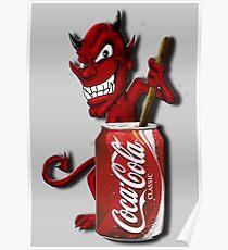 Coke Is The Devil Poster
