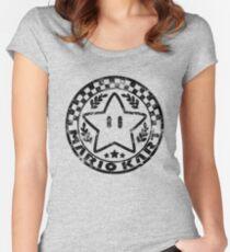 Mario Kart Emblem Women's Fitted Scoop T-Shirt