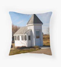 Blue Mound Wayside Chapel Throw Pillow