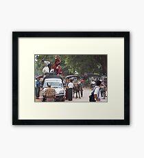 street activity Framed Print