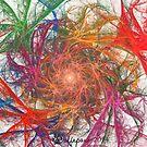 Rainbow Spirals on White by wolfepaw