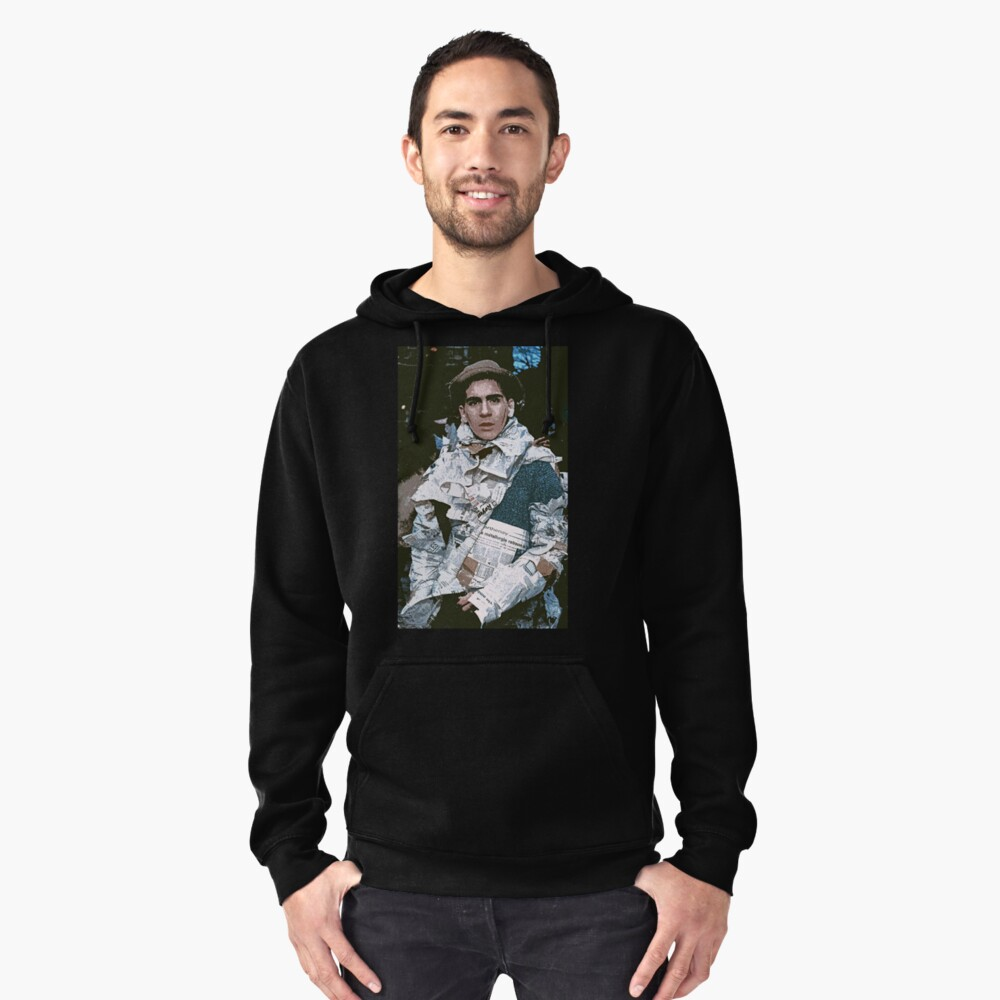 c : Man In newspapers ! collector  1997  1  (c)(h) by Olao-Olavia / Okaio Créations Pullover Hoodie Front