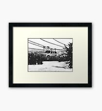 SUV Ski Lift Framed Print