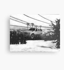 SUV Ski Lift Metal Print