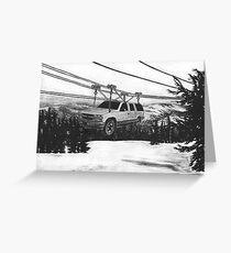 SUV Ski Lift Greeting Card