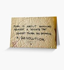 Punk! Greeting Card