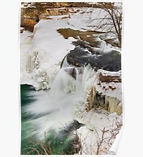 Winter Waterfall Poster