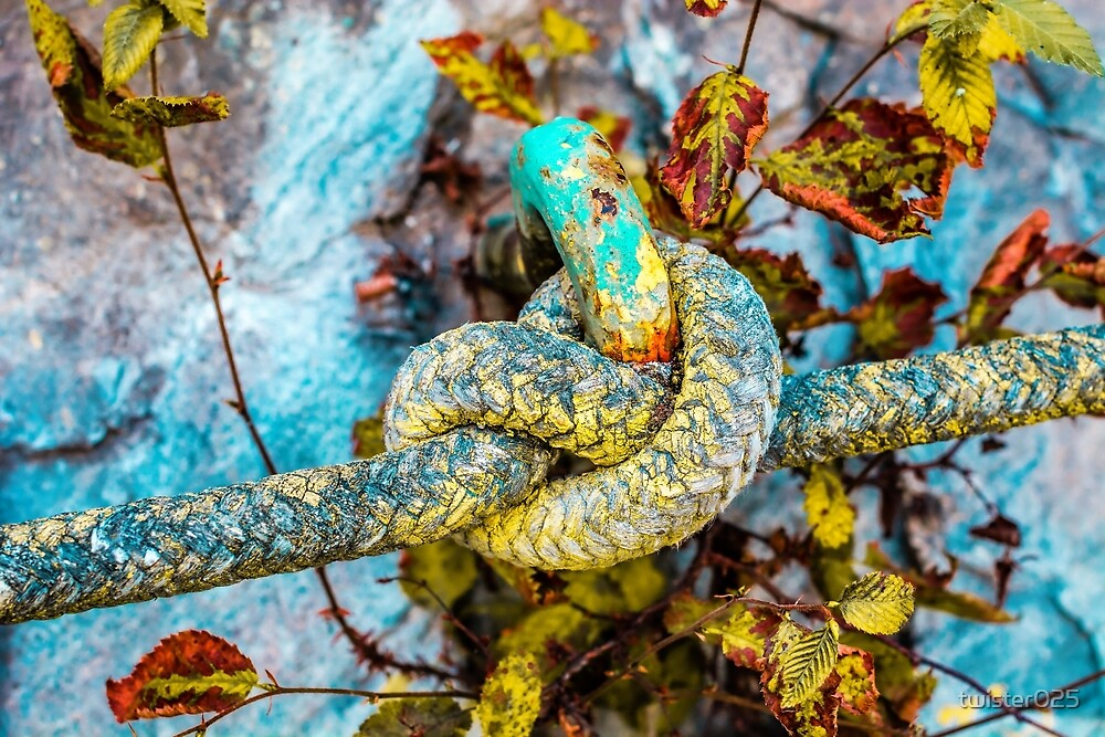 Paint on Rope tied in a Knot by twister025