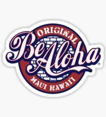 Be Aloha Pennant Sticker