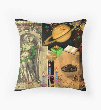 Saturn, god of plenty, wealth, agriculture and peace (month of December) Throw Pillow