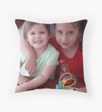Cousins Throw Pillow