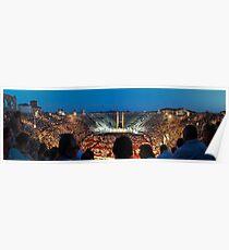 Colosseum Panorama #2 Poster