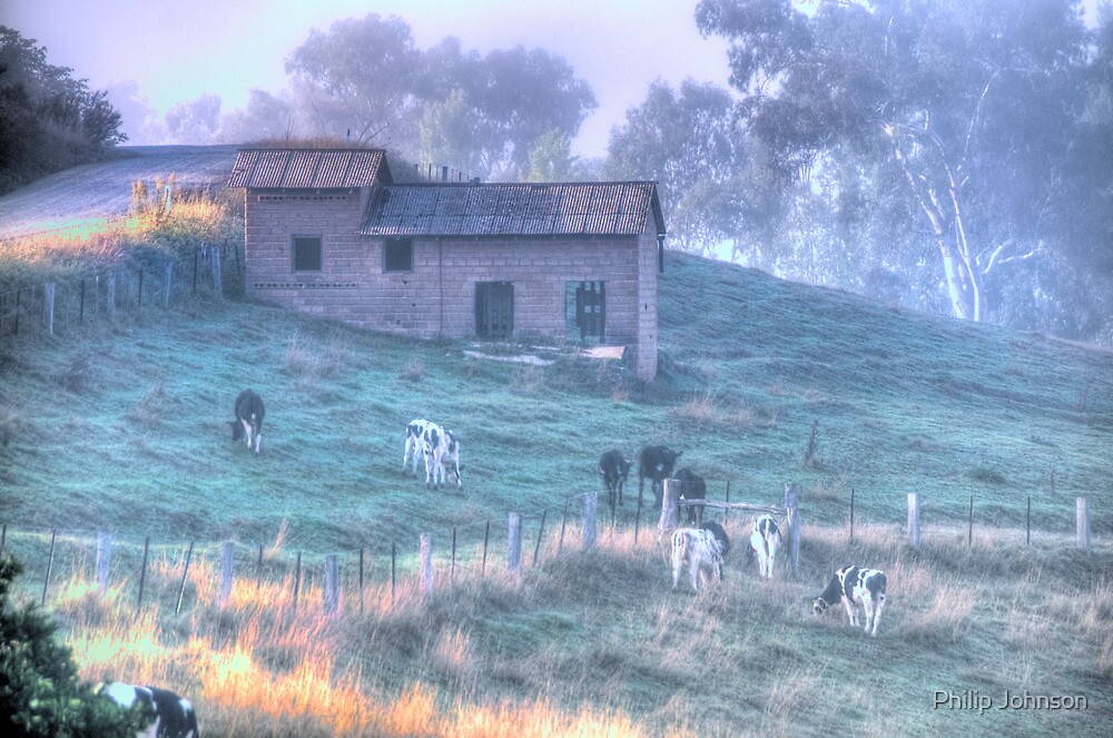 Murray River Pastoral - Jingellic NSW - The HDR Experience by Philip Johnson